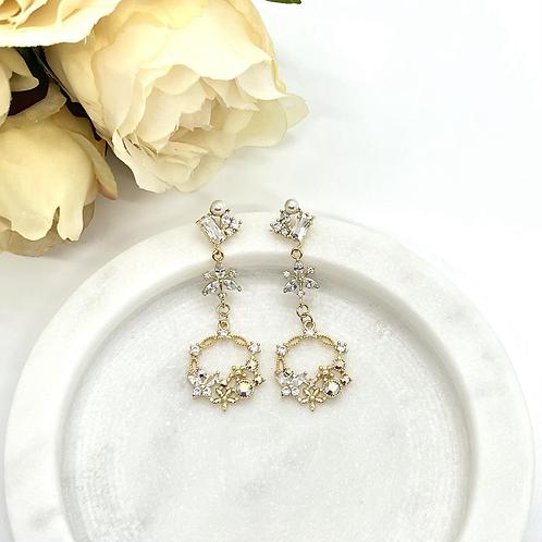 Flower Garden Bridal Earrings