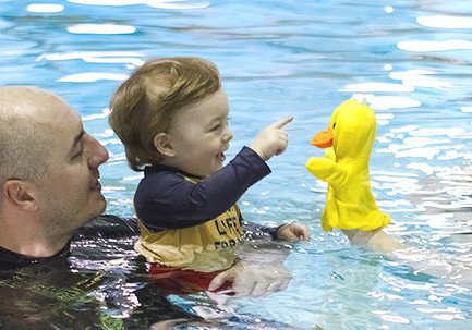 Touch Mr. Duck's nose!