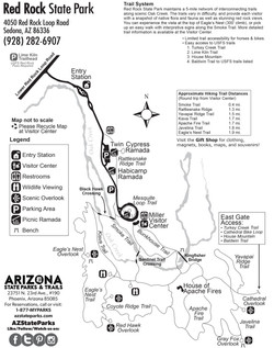 Red Rock State Park Map