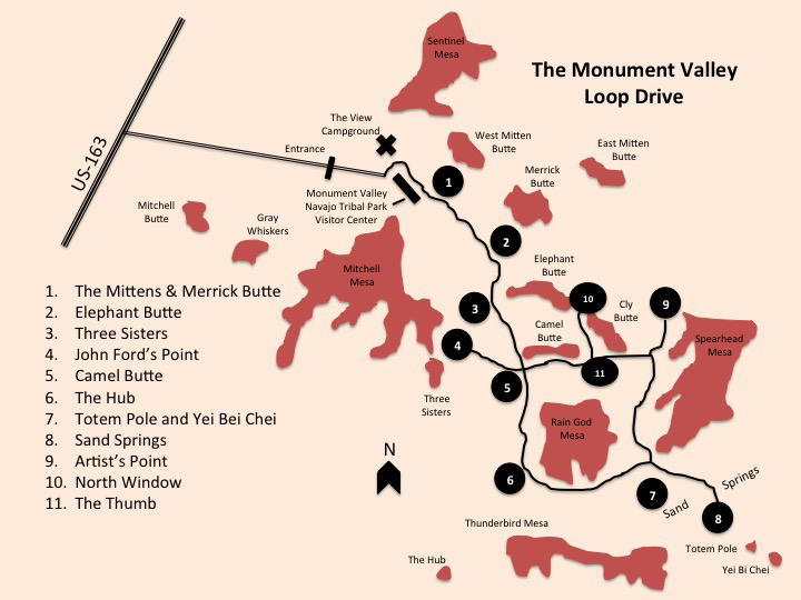 Monument Valley Map