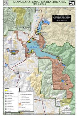 Arapaho National Recreation Area Map