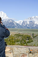 Simone Amaduzzi photographing Grand Teton National Park