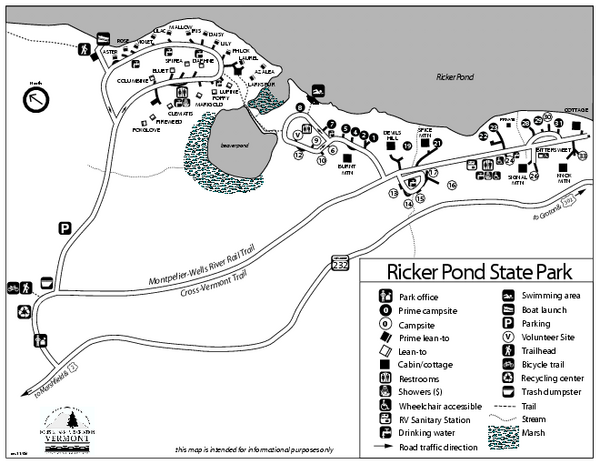 Ricker-Pond-State-Park-Map
