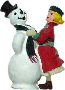 #4111 - Girl w/ Snowman