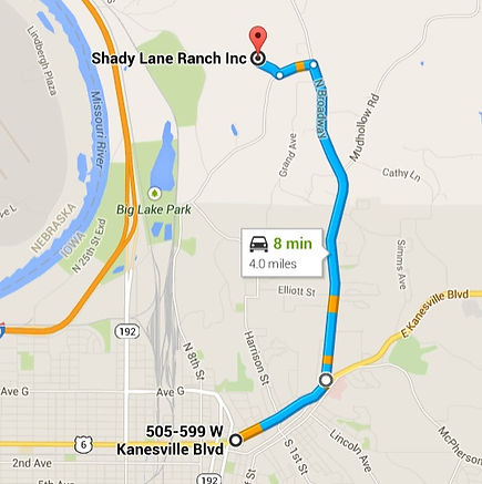 Directions to Shady Lane Ranch