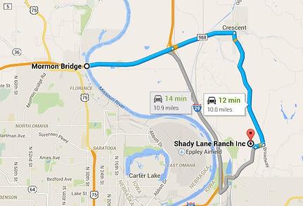 Shady Lane Ranch Directions