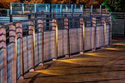 Shelley Rentsch - 6  Germantown Park custom galvanized railings with night lighting