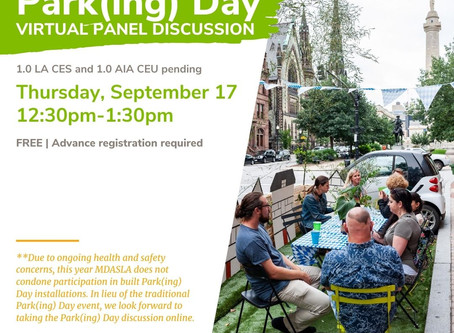 Park(ing) Day and Virtual Discussion Panel
