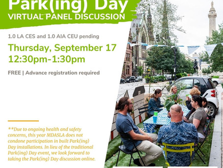 WATCH NOW: Park(ing) Day and Virtual Discussion Panel