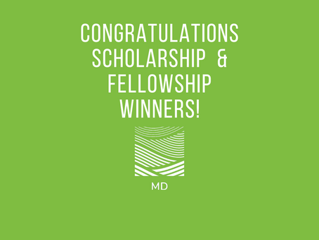 Announcing the 2020 Scholarship & Fellowship Winners