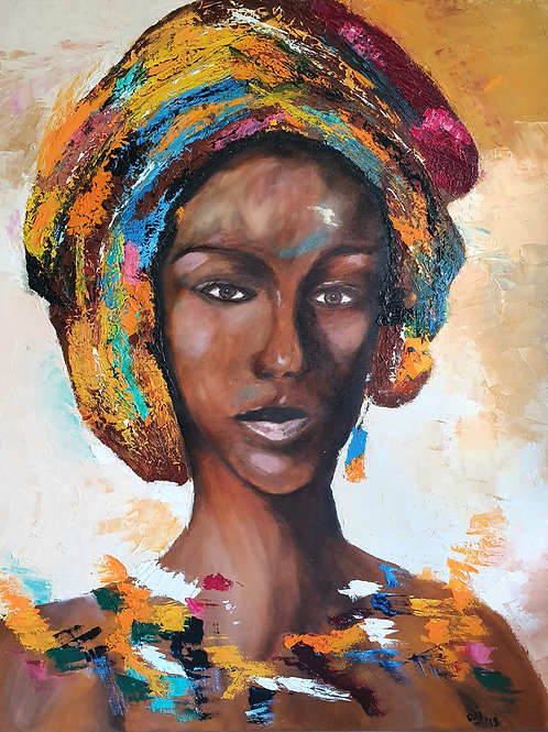 Afrikaanse vrouw - geel