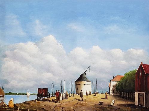 Old crane Waalhaven Nijmegen