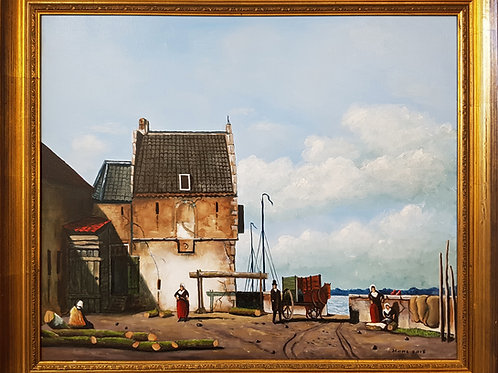 Waalhaven anno 1860 Nijmegen