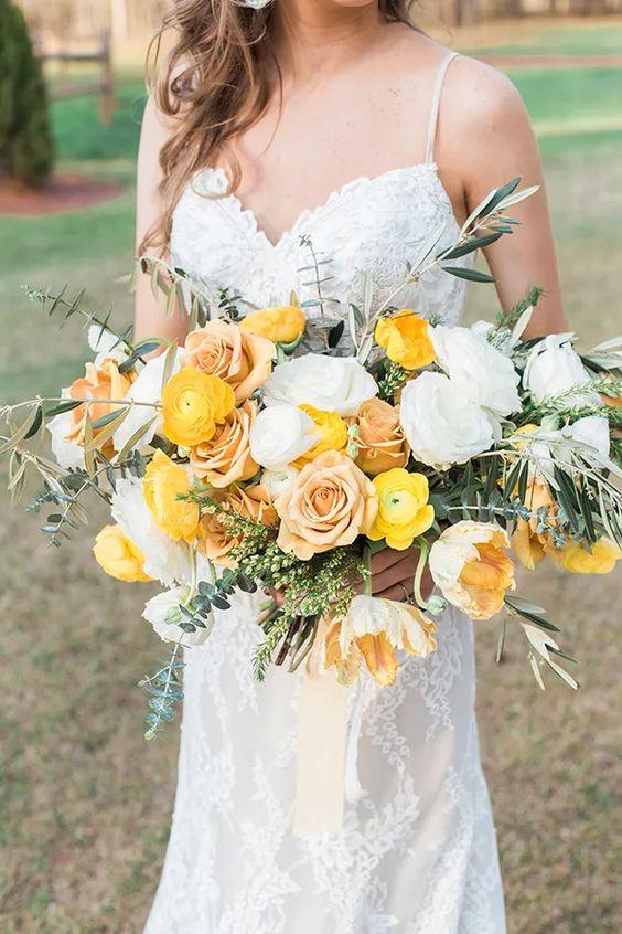 bouquet-mariee-moderne-jaune