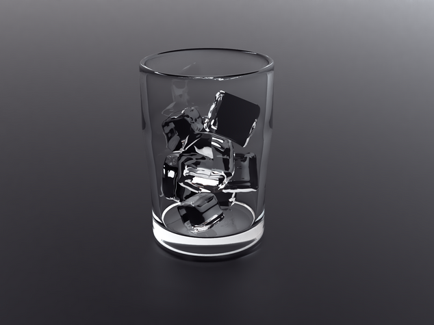 Glass with ice 2