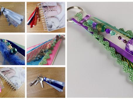 Ribbon Tassel Keychains