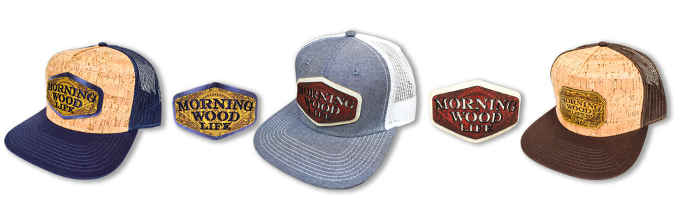 CUSTOM BRANDED LEATHER PATCH HATS | MORNING WOOD GOODS