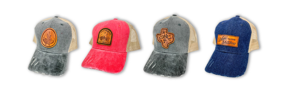 CUSTOM LEATHER PATCH HATS | WHISKI DESIGNS