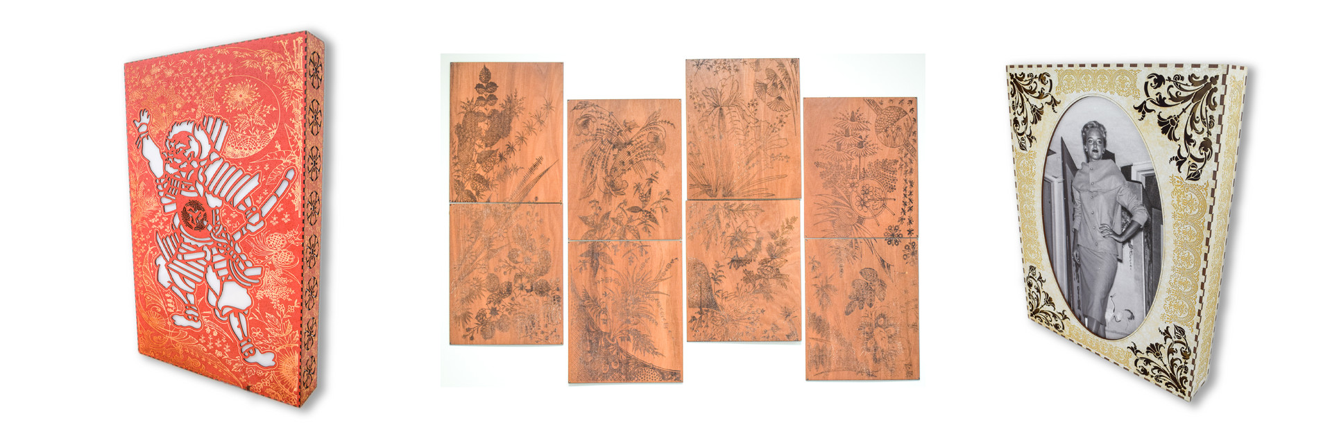 COMMISSIONED WOOD ETCHED ART PIECES