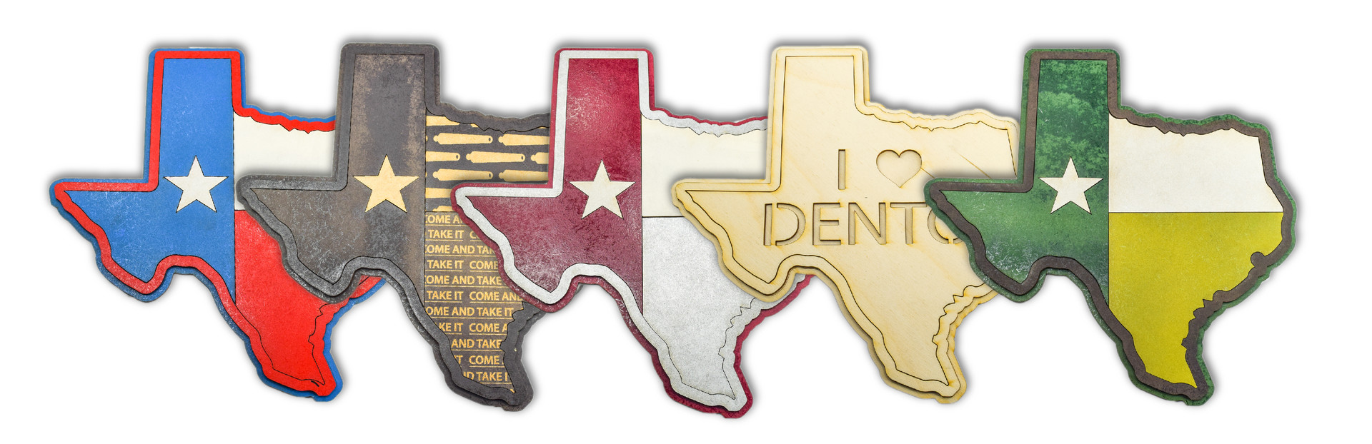 LASER CUT WOODEN TEXAS DECOR