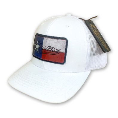 CHRISTIES SPORTS BAR & GRILL   CUSTOM TEXAS LEATHER PATCH HAT