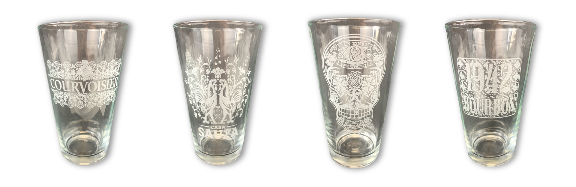 LASER ETCHED BRANDED GLASSWARE