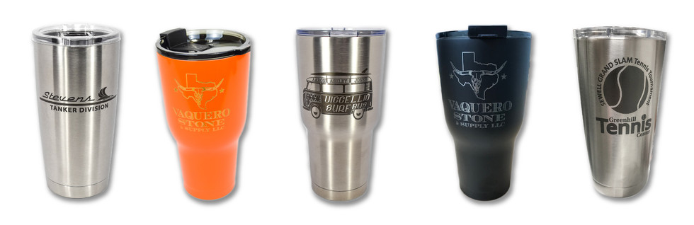 LASER ETCHED STAINLESS STEEL THERMAL TUMBLERS