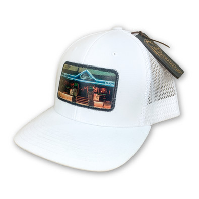 CHRISTIES SPORTS BAR & GRILL   CUSTOM LEATHER PHOTO PATCH HAT