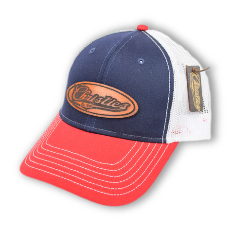 CHRISTIES SPORTS BAR & GRILL   CUSTOM LEATHER PATCH HAT