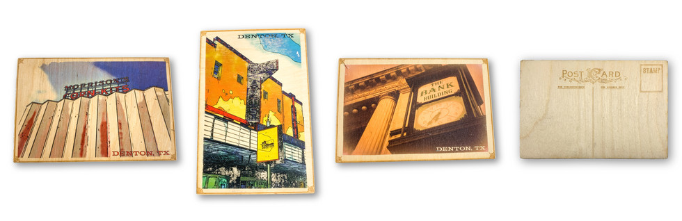 WOODEN POST CARDS