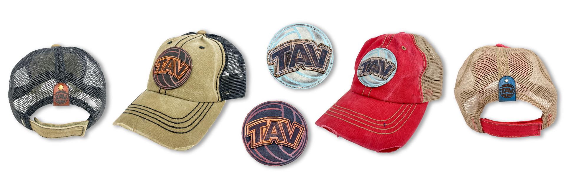 CUSTOM LEATHER PATCH HATS | TAV VOLLEYBALL CLUB