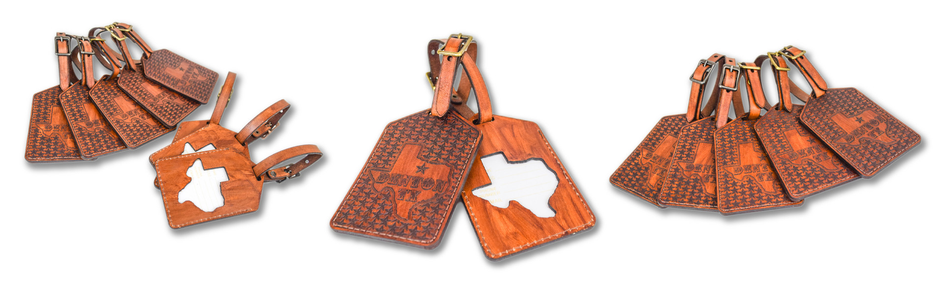 CUSTOM LEATHER LUGGAGE TAGS