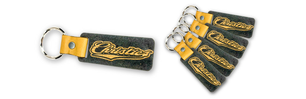 CHRISTIES BAR & GRILL LEATHER/WOOD KEYCHAINS