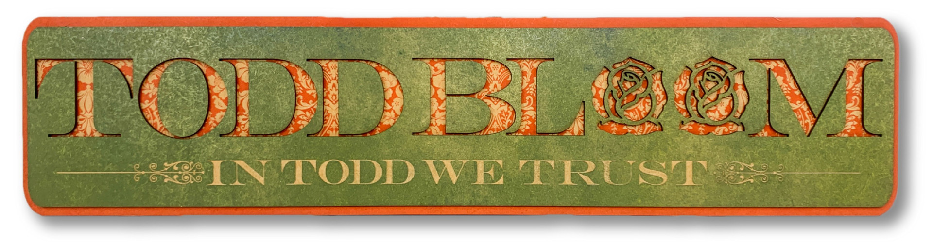 CUSTOM WOOD SIGN | TODD BLOOM