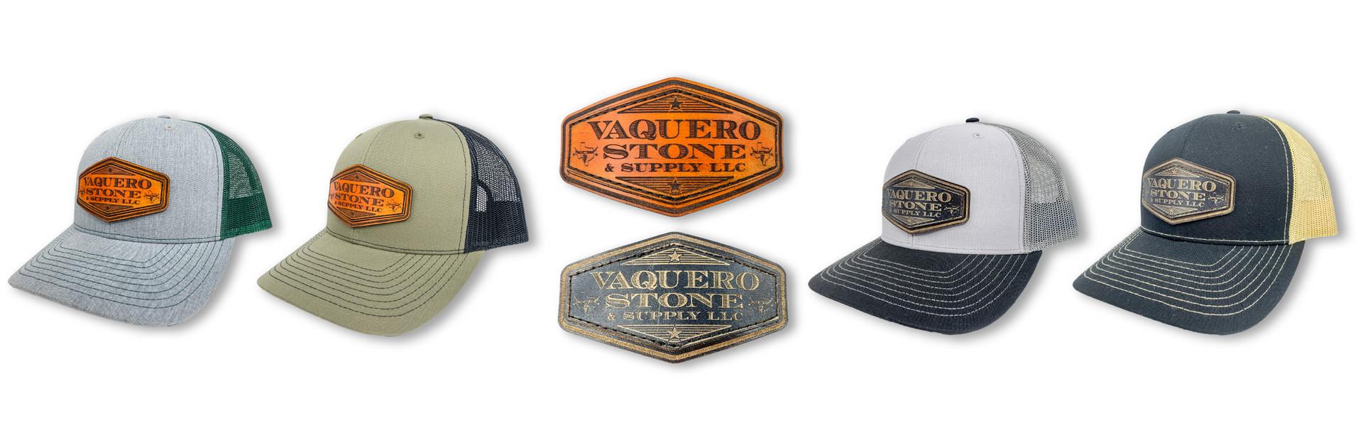 CUSTOM BRANDED LEATHER PATCHES | VAQUERO STONE