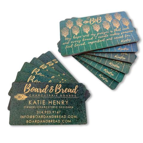 CUSTOM PREMIUM WOOD BUSINESS CARDS