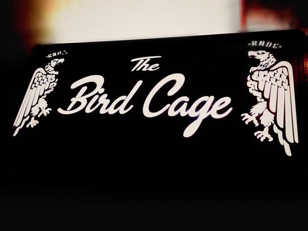 RNDC BIRDCAGE LOUNGE SIGN | LIT