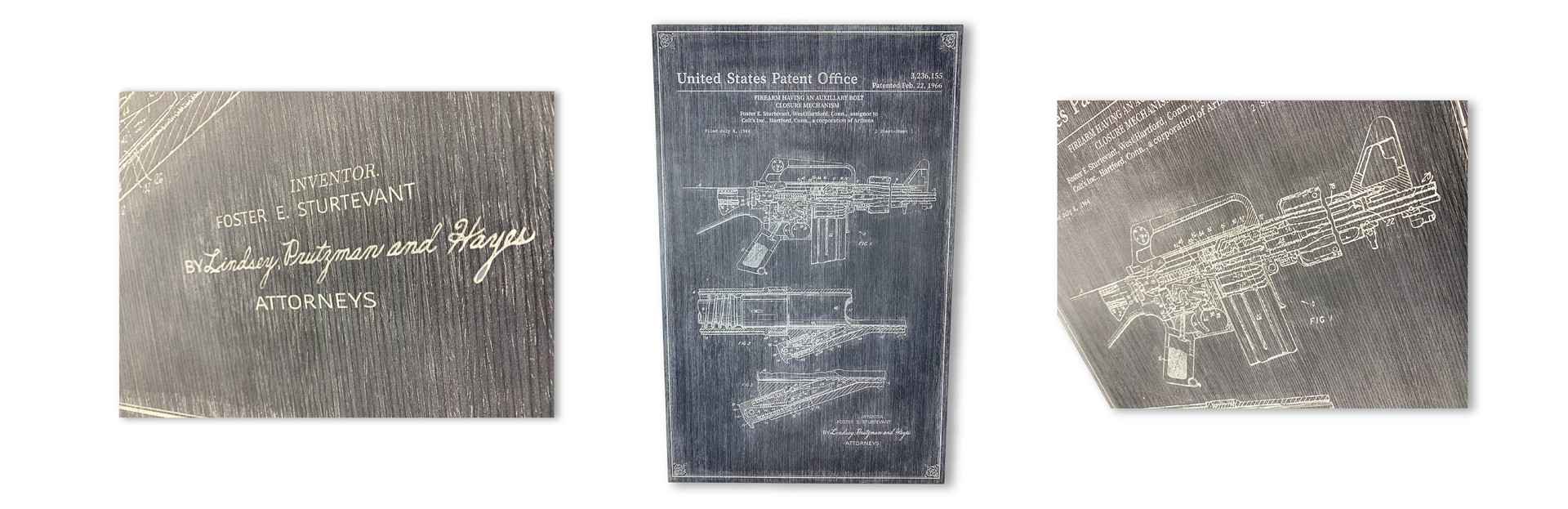 AR15 PATENT COMMISSIONED WALL ART PIECES