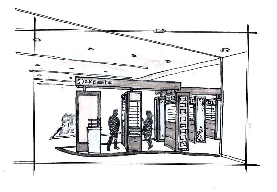 Sunglass Hut Macy's Mall at Millenia Sketch