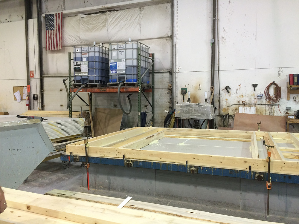 Wall being built in Unibilt facility