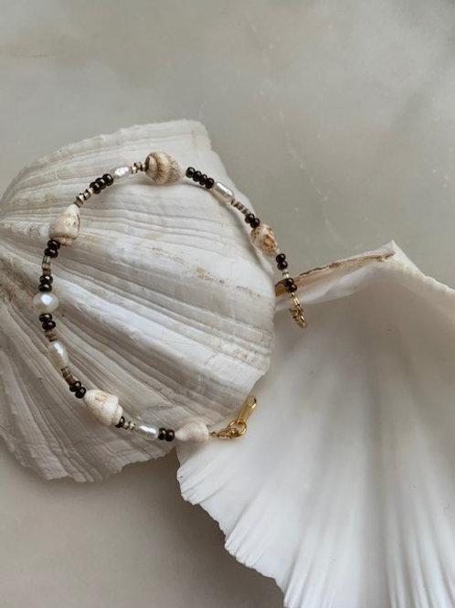 Seashell Bracelet Brown
