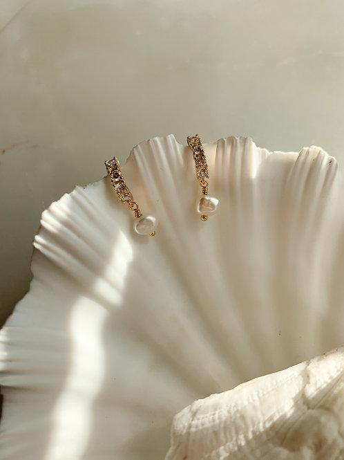 Very Tiny Pearl Hoop