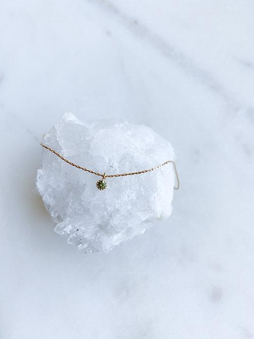 Tiny Olive Zircon Bracelet