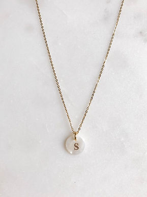 Sea Shell Letter Necklace