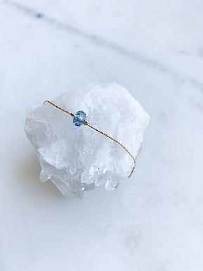Swarovski bead blue