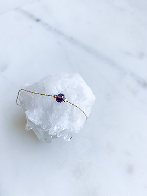 Swarovski bead purple