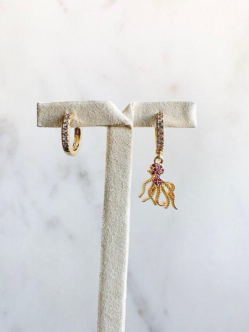 Pink Octopus Hoop