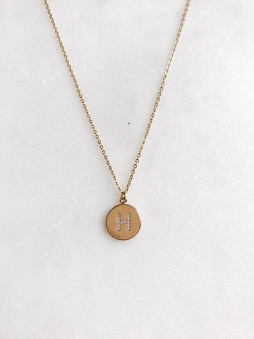 Crystal Letter Necklace