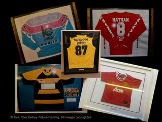 Sports shirt framing