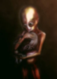 Painting entitled: Embrace your powerlessness